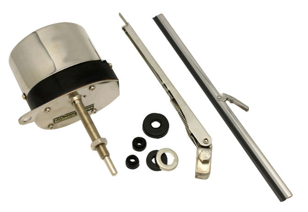 12v stainless windshield wiper motor kit street rat rod