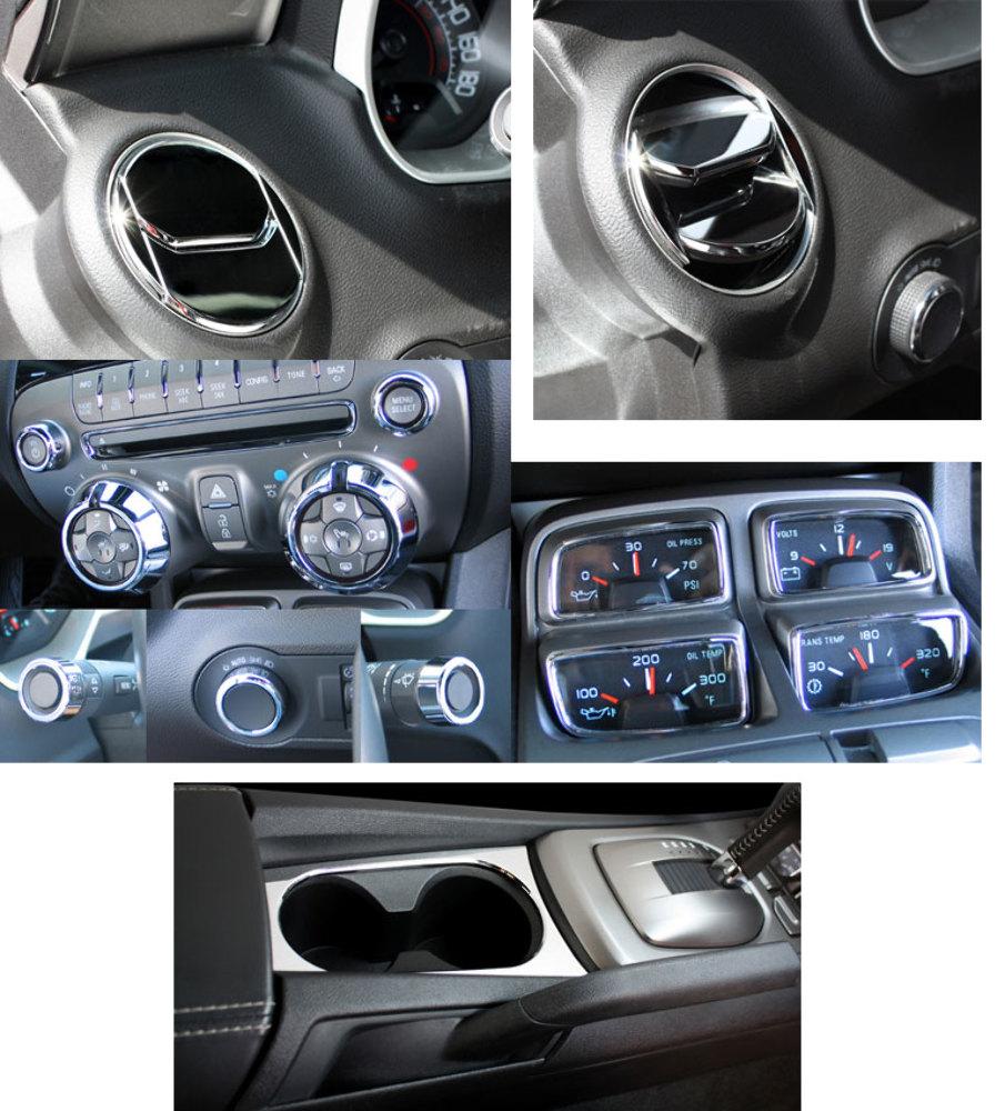 2010 2014 Chevy Camaro Chrome Billet 20pc Interior Trim Kit Pirate Mfg