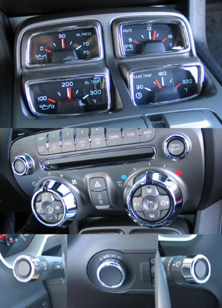2010 2014 Chevy Camaro Chrome Billet 11pc Interior Trim Kit Pirate Mfg