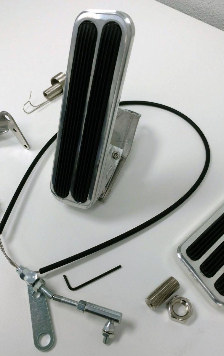 Billet Aluminum Gas Amp Brake Pedal 36 Quot Throttle Cable
