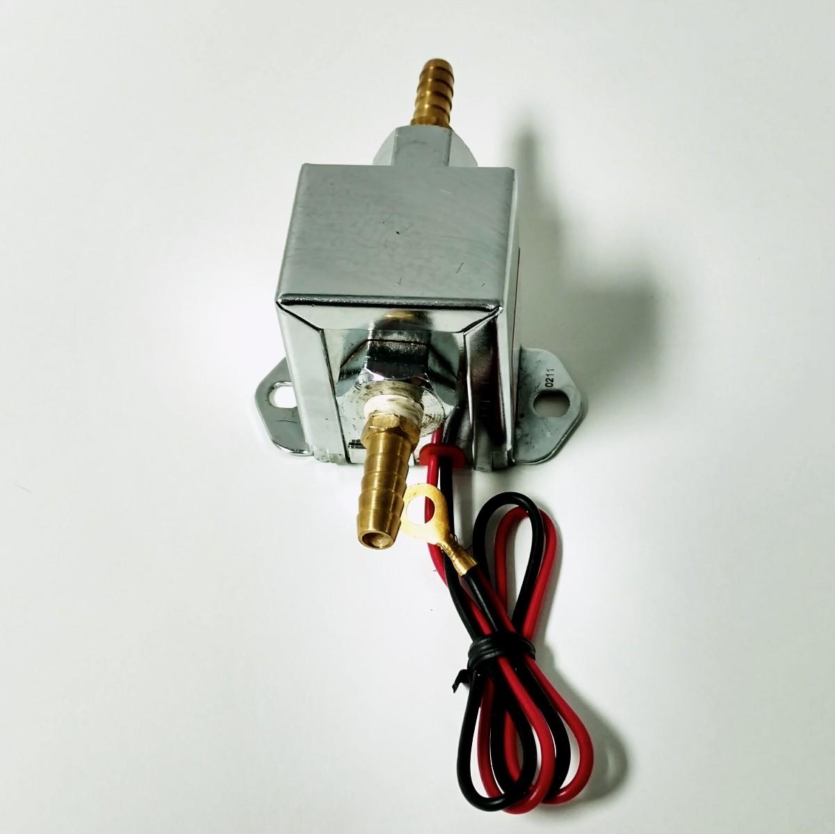 Street Rod Fuel Pump : Universal chrome square electric fuel pump psi hot rat