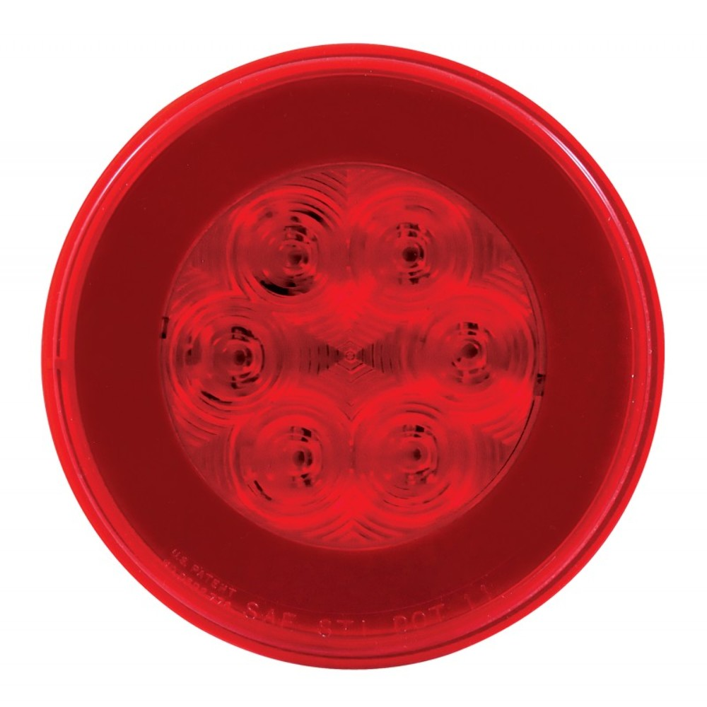 2  21 Red Led 4 U0026quot  Round  U0026quot Glo U0026quot  S  T  T Light