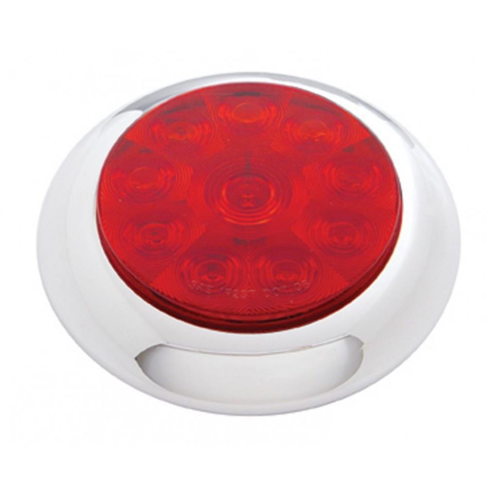 10 Led 4 Quot Stop Turn Brake Red Tail Light W Chrome Bezel