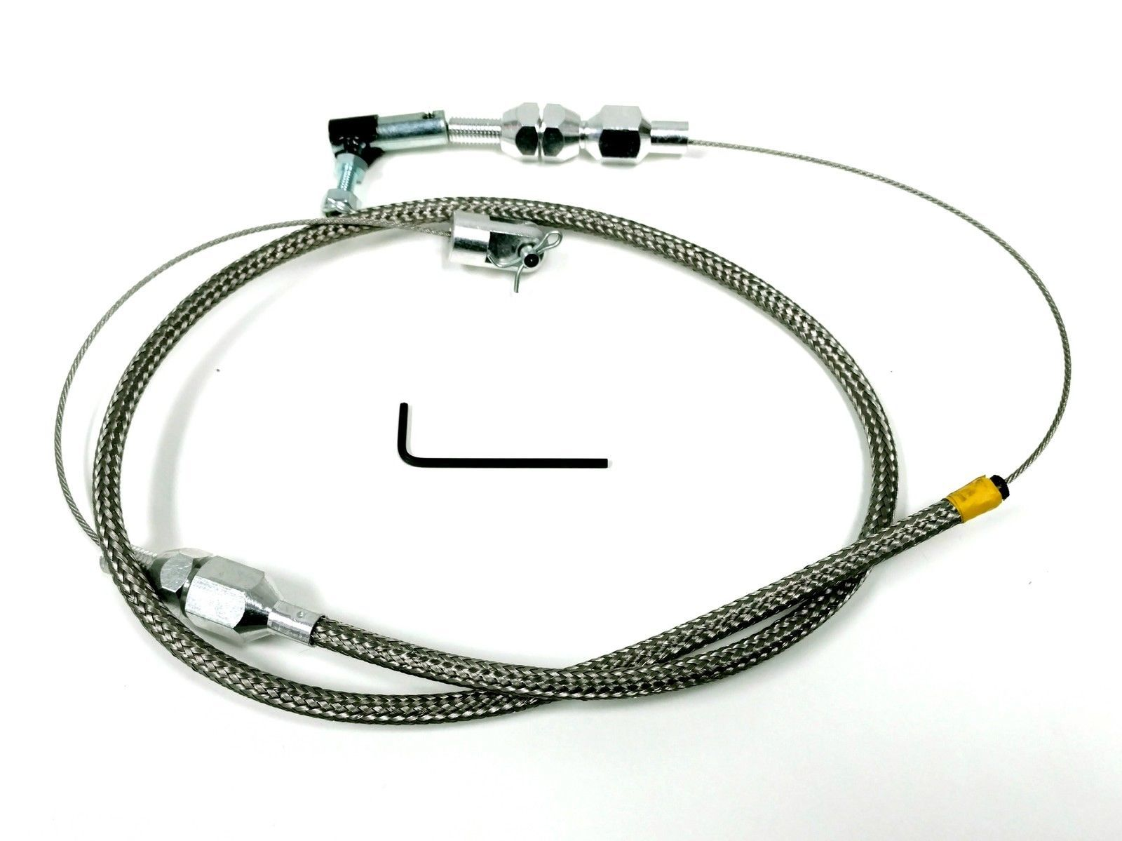 Hot Rod Cable : Quot stainless throttle cable w braid for