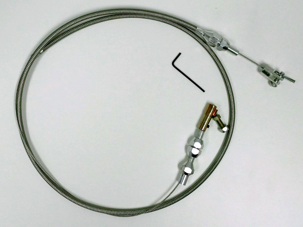 Hot Rod Cable : Quot stainless braided throttle cable rat rod hot