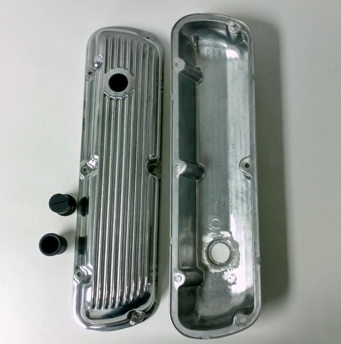 1964-Up SB Ford V8 289 302 351W Polished Aluminum Short