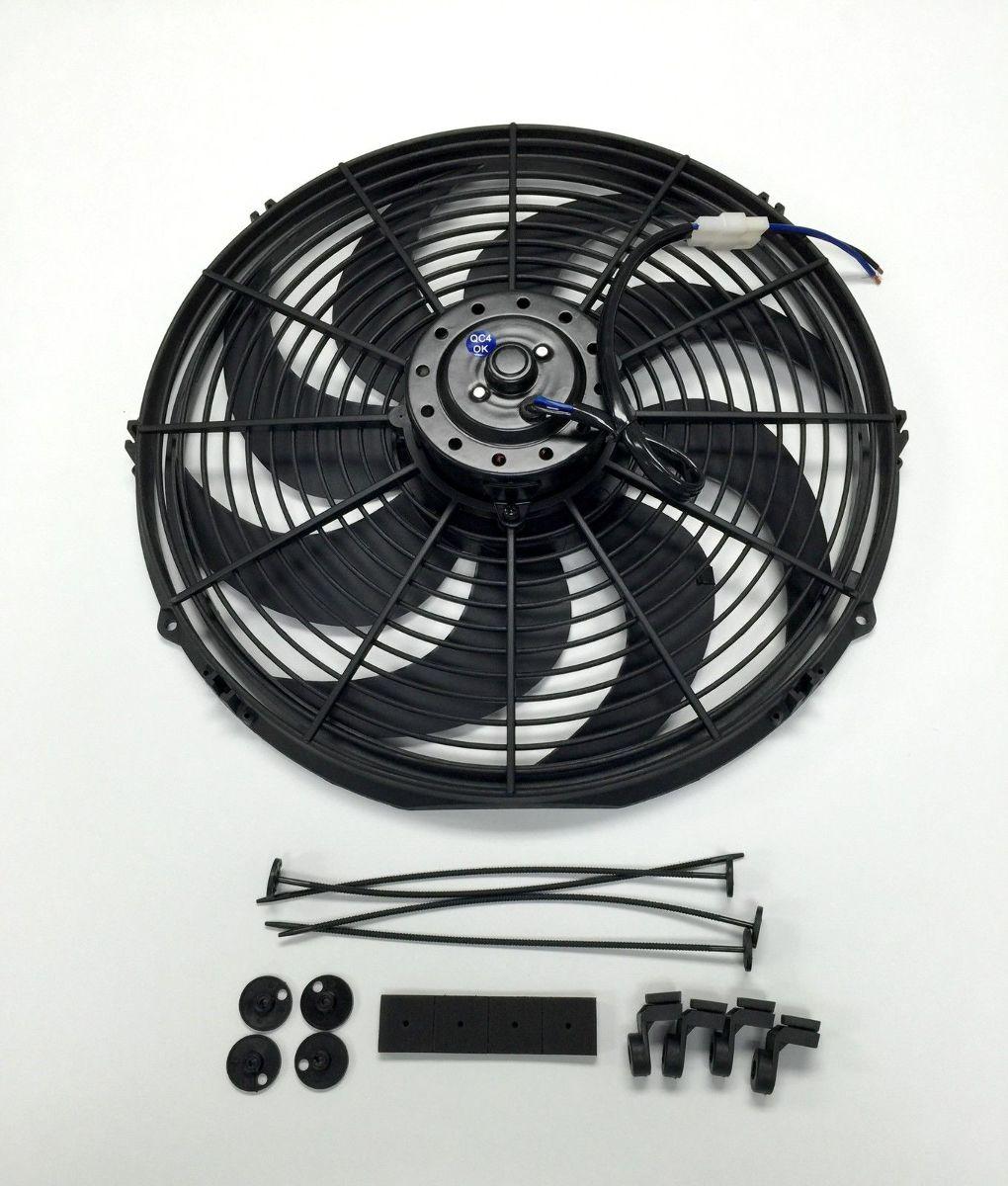 High Cfm 12v Cooling Fans : Quot electric radiator cooling fan curved blade v
