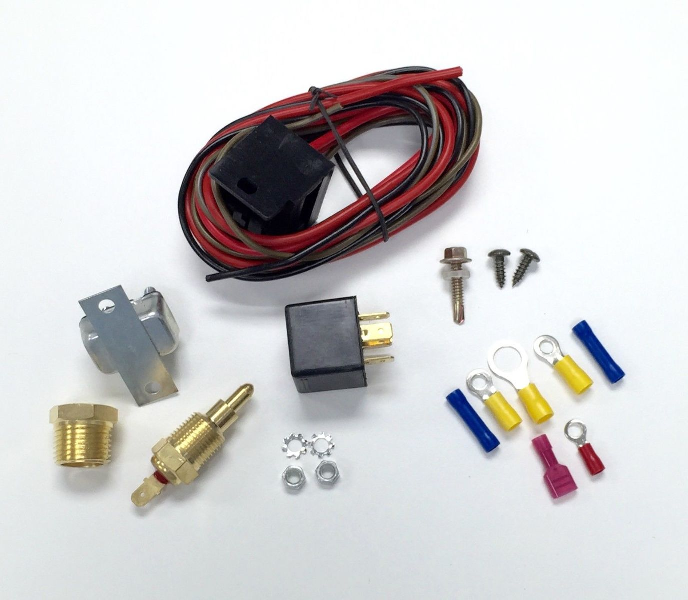 Hot Rod Electric Cooling Fan Wiring Install Kit 200  185