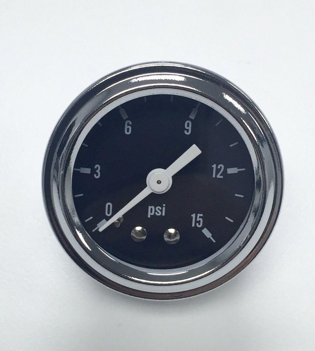 Hot rod chrome black face quot fuel pressure gauge