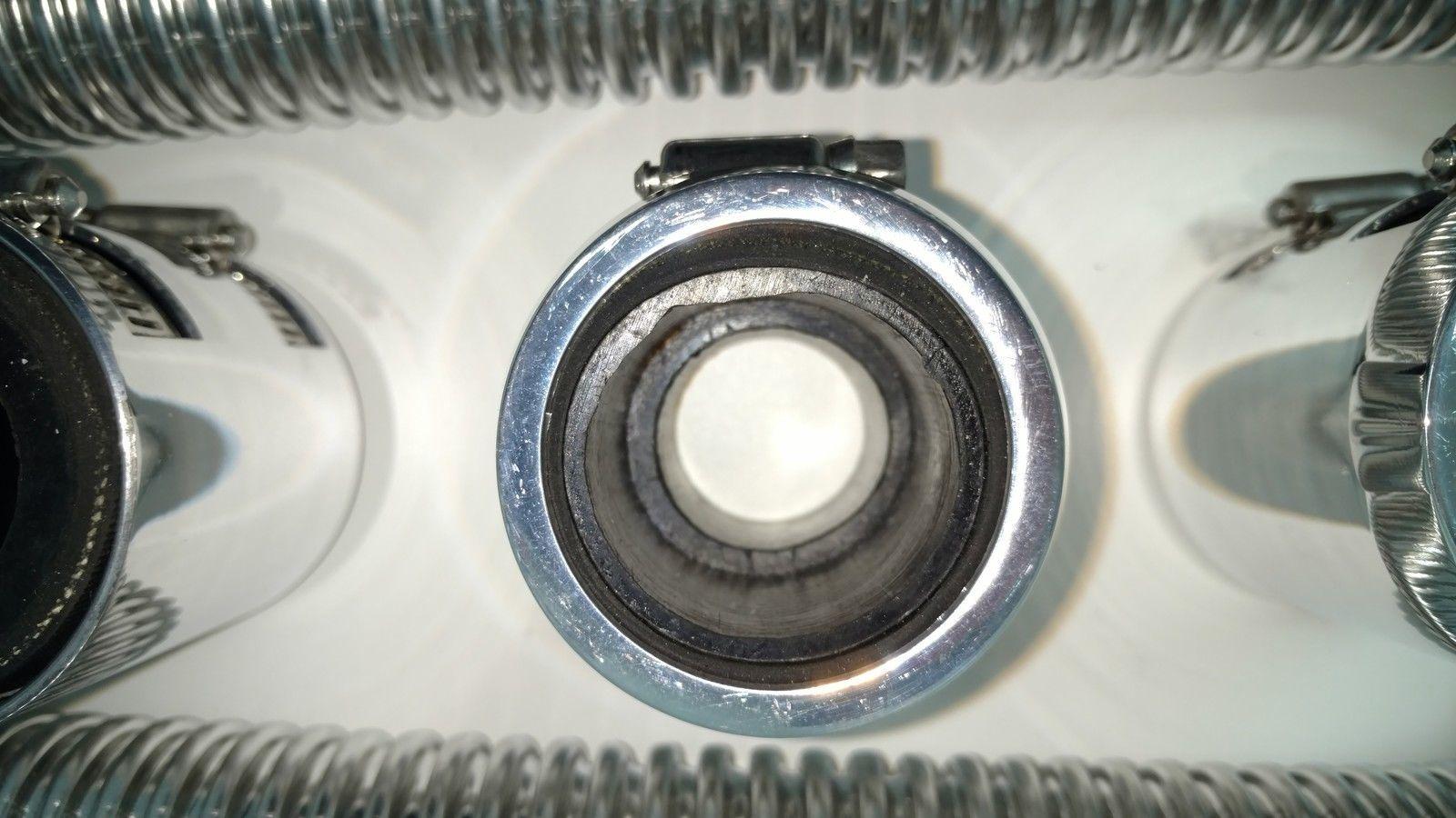 48 Quot Chrome Stainless Flexible Radiator Amp Heater Hose Kit W