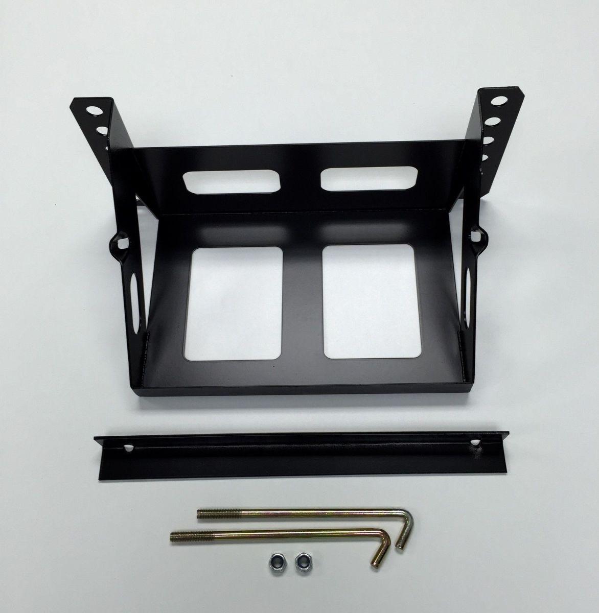 adjustable bolt on steel black battery box 11 x 7 125