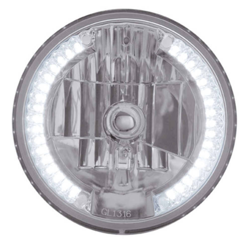 7 quot DIA CRYSTAL HEADLIGHT BULB WITH 34 AUXILIARY LED