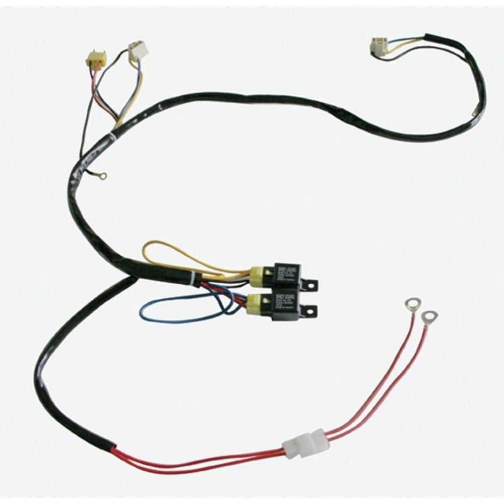 Upi 34263 H4 Headlight Relay Harness Kit 2 Headlight