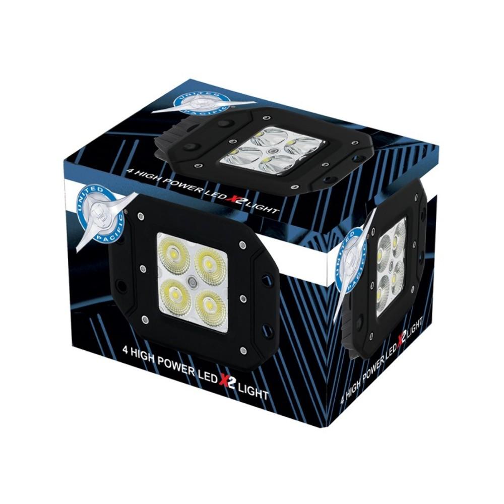 """4 High Power LED """"X2"""" Flood Light Flush Mount 1400"""