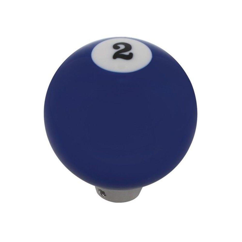 Universal Blue 2 Pool Ball Gear Shifter Handle Shift Knob