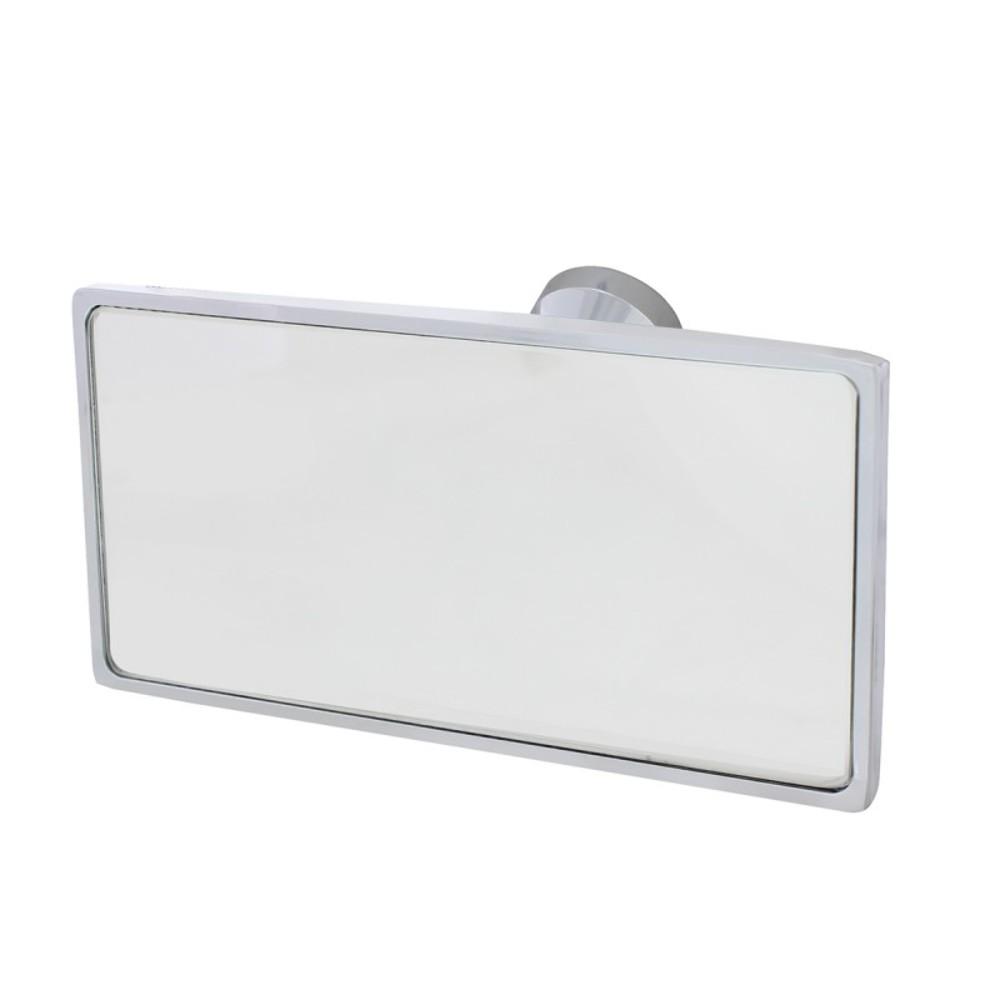 universal chrome interior rear view mirror with glue on. Black Bedroom Furniture Sets. Home Design Ideas