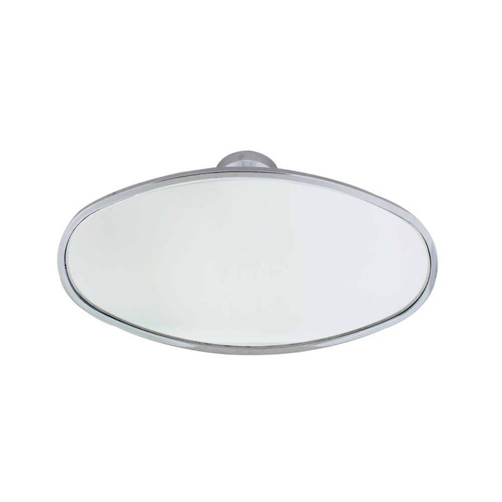 universal chrome oval interior rear view mirror w glue on. Black Bedroom Furniture Sets. Home Design Ideas