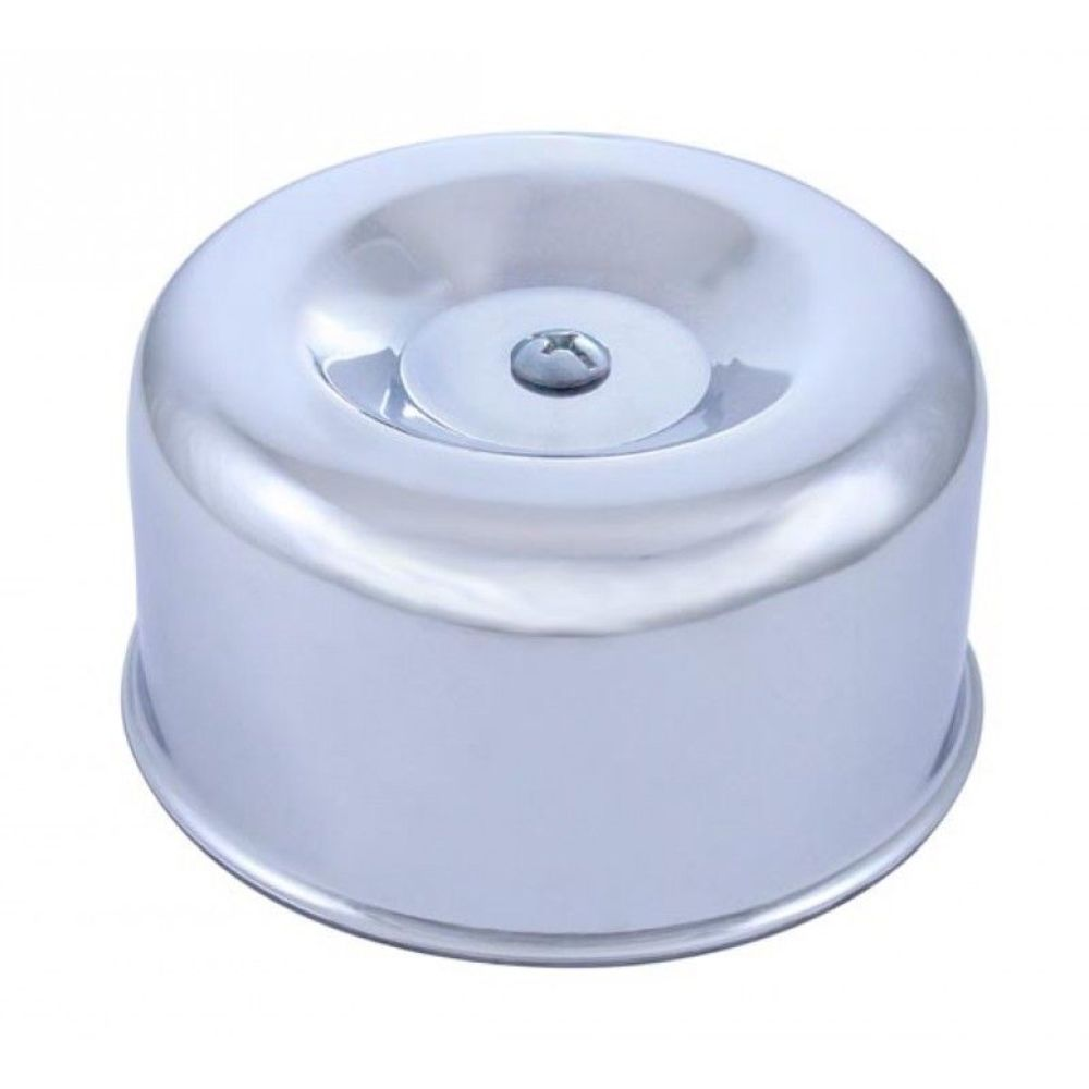 Low Profile Air Cleaner Base : Smooth chrome low profile base neck air cleaner