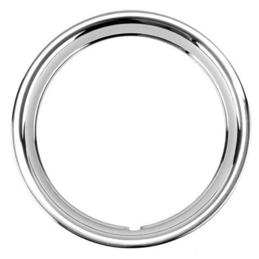 "16 Beauty: 16"" Ford Ribbed Stainless Steel Wheel Trim Beauty Ring"