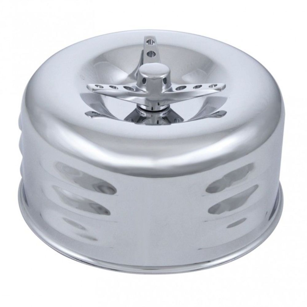Chrome Cleaner For Cars : Louvered chrome stndard quot air cleaner w wing bolt