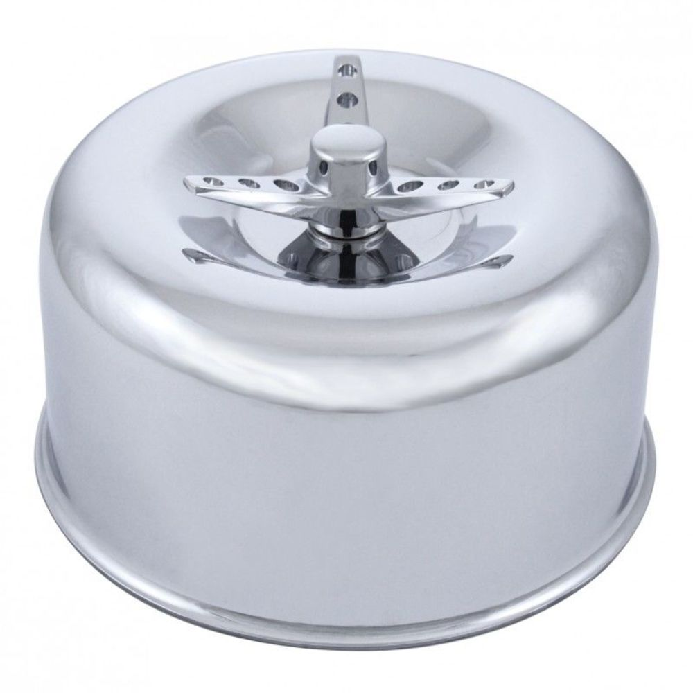 Low Profile Air Cleaner Base : Chrome low profile quot air cleaner w wing bolt