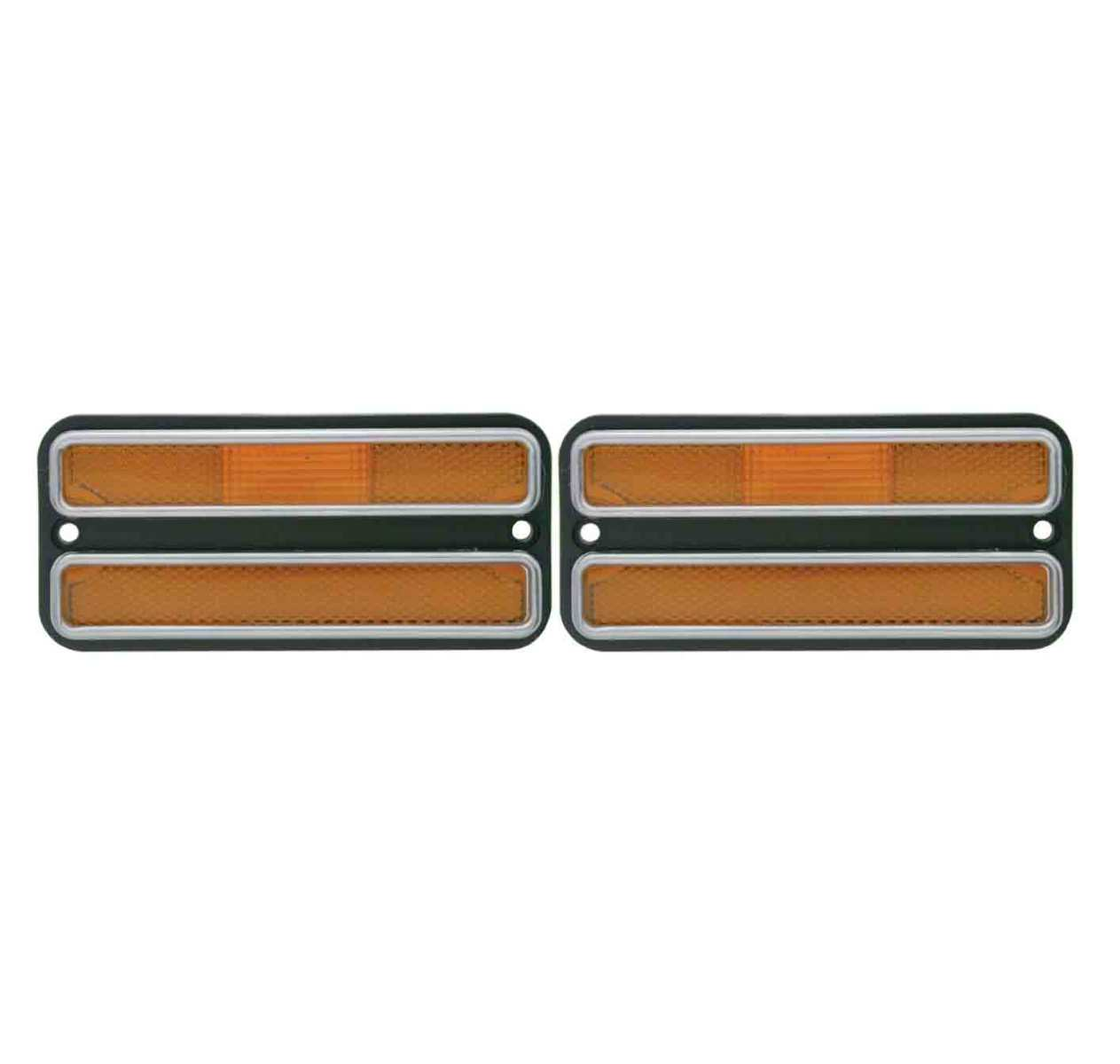 2 1968 1972 chevy truck amber front clearance side marker light housings pirate mfg. Black Bedroom Furniture Sets. Home Design Ideas