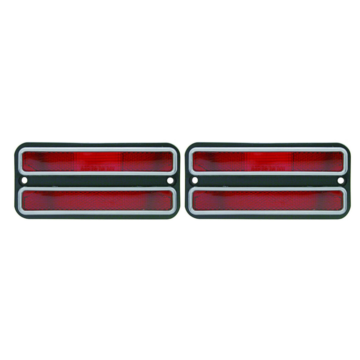 2 1968 1972 chevy truck red clearance side marker light housings 69 70 71 pirate mfg. Black Bedroom Furniture Sets. Home Design Ideas