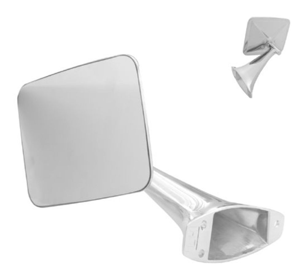 1970 1972 Chevy Truck Exterior Mirror Right Ea Pirate Mfg