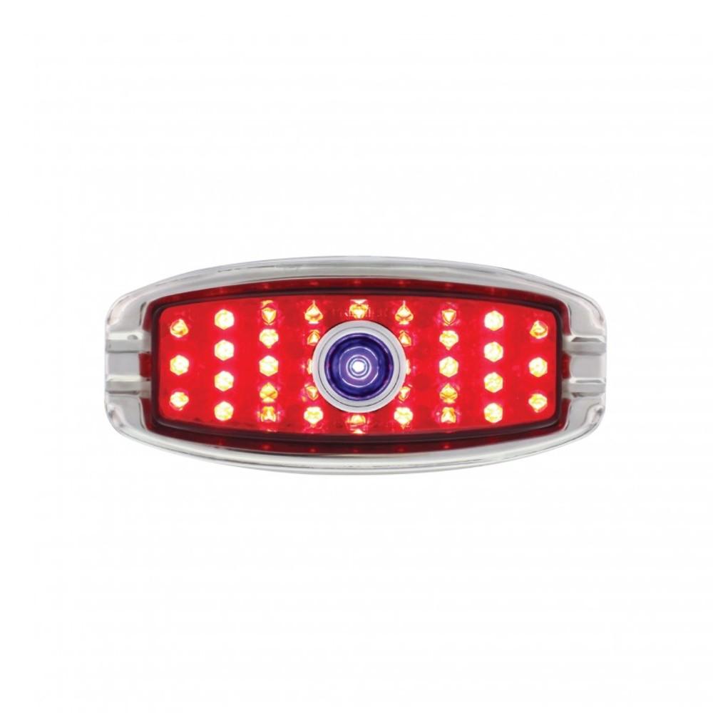 1941-48 Chevy Car LED Tail Light W/ Blue Dot Flush Mount