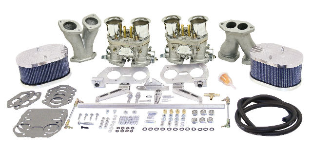 empi vw deluxe dual 40 hpmx type 1 carb kits with billet air cleaners 47 9317 pirate mfg