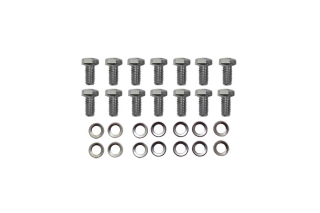 chrome dana 60 differential cover hex head bolt w   washers