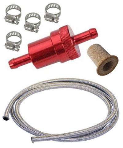 vw bus fuel filter vw bug, beetle, baja, bus, aluminum fuel filter kit w/ 1/4 ... #5