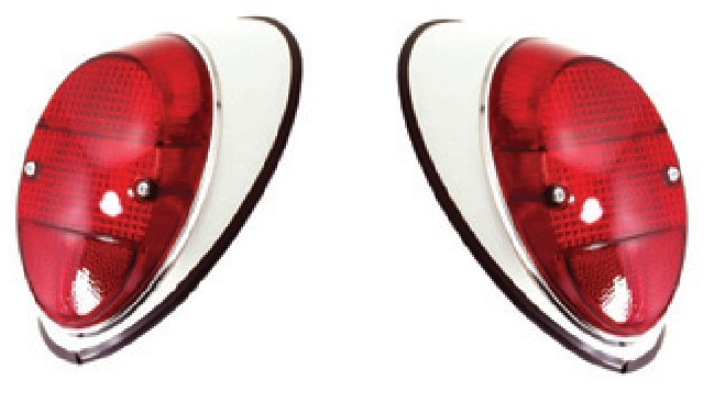 Tail Light Assemblies, Right & Left, Pair, VW Bug 1962-1967 111 945 096/095N