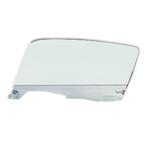 Complete Tint Door Glass Assembly For 1965-66 Ford Mustang Fastback - L/H