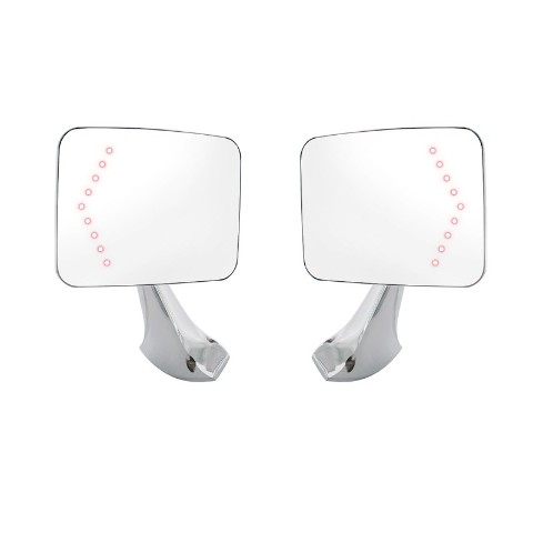 Exterior Mirror, Pair, With Led Turn Signal For 1970-72 Chevy & GMC Truck