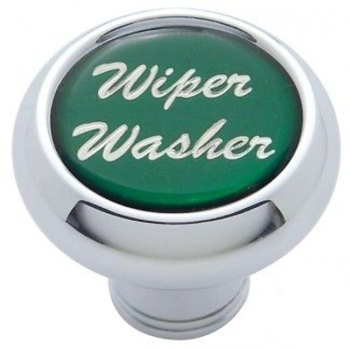Chrome Aluminum Quot Wiper Washer Quot Dash Knob With Green