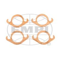 EMPI VW Air Cooled Bug, Baja, COPPER SLIP-FLANGE EXHAUST GASKETS 1-5/8  3389