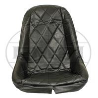 VW BUG BAJA ROCK CRAWLER SAND RAIL LOW-BACK DIAMOND VINYL SEAT COVER, BLACK