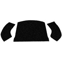EMPI  VW BUG/SB  CONVERTIBLE 56-72 REAR SEAT  CARPET KIT 3 PIECE 3997