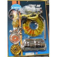 EMPI Engine Trim Super Chrome / YELLOW Dress Up Kit VW Bug  Buggy  Beetle 8655