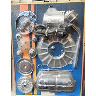 EMPI Engine Trim Super Chrome / CLEAR Dress Up Kit VW Bug  Buggy  Beetle 8656