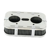 EMPI VW BUG BUGGY CHROME AIR CLEANER DELLORTO DRLA 2 1/2 TALL  9024-D