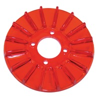 New EMPI VW Red Finned Alt/Gen Pulley Cover - 8926