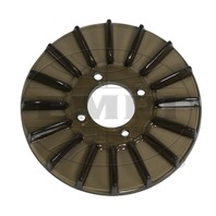 New EMPI VW Smoke Grey Finned Alt/Gen Pulley Cover - 8929