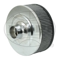 """EMPI VW OFF-ROAD AIR CLEANER 10"""" ROUND ALUMINUM 5-1/4 TALL FOR STOCK CARB 9000"""