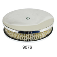 """EMPI VW Bug 6-3/8"""" Round Air Cleaner Stock Carb, 2-1/4 """" Tall Paper Element 9076"""