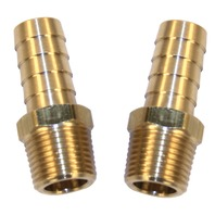 VW AIR COOLED BRASS FITTING,1/2 MALE NPT W/ 1/2 HOSE BARB, PACK OF 2, 9214