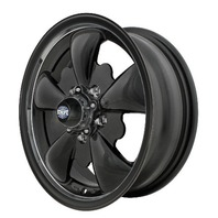 VW LATE BUS TYPE 2, WHEEL GT-5-Spoke EMPI  5.5 X 15 ALL MATT BLACK, 5X112 9662