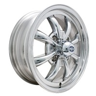 EMPI GT-8-Spoke EMPI Rim 5.5 X 15 Polished wheel VW bug Type 1 2 3 ,4-130  9684