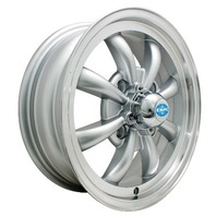 EMPI GT-8-Spoke EMPI  5.5 X 15 Silver  wheel VW bug Type 1 2 3 ,4-130  9685